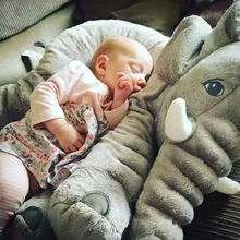 40/60 cm Plush Elephant Toy Cotton Stuffed Elephant Pillow Cushion Placating Plush Toy For Children Climbing Sleeping  - buy with discount