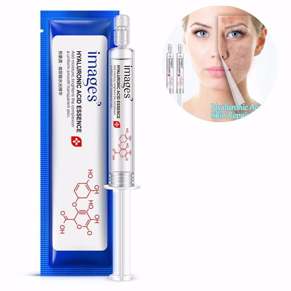 10ml Women Face Serum Skin Care Hyaluronic Acid Water Light Repair Essence Hydration Moisturizing Anti Aging Collagen TSLM1
