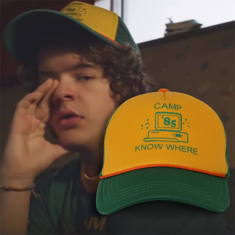 Baseball-Cap Dustin-Hat Mesh Hip-Hop-Hat Know Where Stranger Things Camp 3 Cotton Retro
