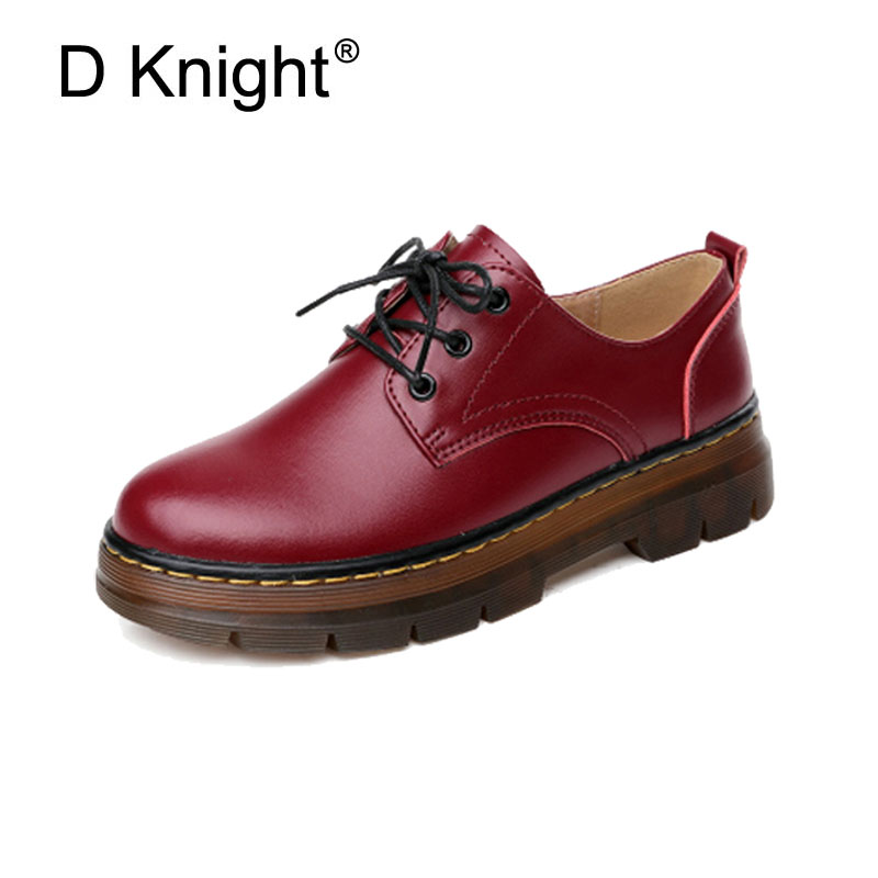 Fashion Round Toe Lace Up Women Genuine Leather Oxford Shoes Vintage England Style Cow Leather Oxfords For Women Ladies Shoes top quality england style retro mens cow genuine leather brogue shoes male casual shoes lace up round toe breathable wing tip