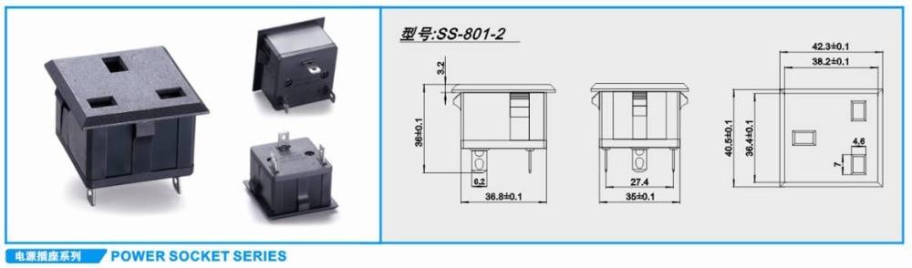 ᐂ10 unids/lote AC 250 V 10A panel Mount Hong Kong Singapur Malasia ...