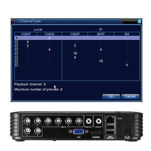 Image 2 - BESDER AHD 1080N 4CH 8CH CCTV AHD DVR 미니 DVR CCTV 키트 VGA HDMI 보안 시스템 미니 NVR IP 카메라 Onvif DVR PTZ H.264