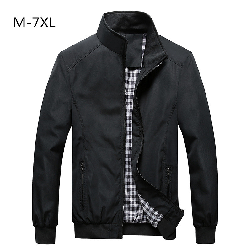 Free Shipping Bomber Solid Jacket Men Casual Spring
