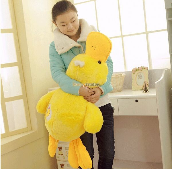 Fancytrader 39\'\' 100cm Lovely Stuffed Giant Plush Yellow Rubber Duck, Free Shipping FT50268 (2)