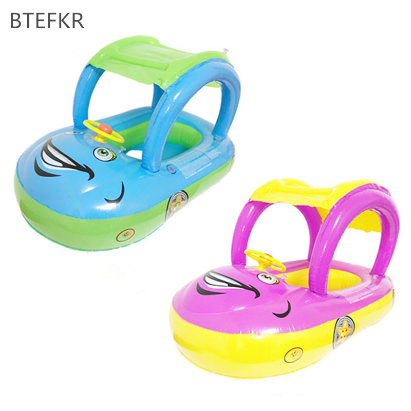 2018 New Hot Summer Portable Inflatable Swimming Circle For Kids Bathing Newborns  Float Boat Tube Car For Baby Swim Float