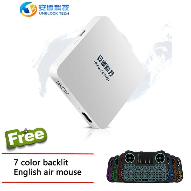 BỎ CẤM CÔNG NGHỆ TV BOX Ubox 4 Bluetooth Hộp Android5.1 IPTV cho 1000 kênh từ Trung Quốc đại lục Nhật Bản Ấn Độ Nga HK và Đài Loan