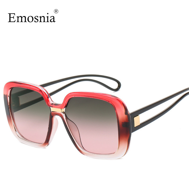 Emosnia Unisex Square Sunglasses 2019 Big Frame New Fashion Women Brand Designer Sun Glasses Big Frame Shades Eyewear UV400