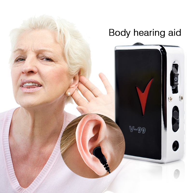 Hearing Aid Portable  Black Durable Earphone Type Best Sound Amplifier Adjustable Tone digital Hearing Aids Care