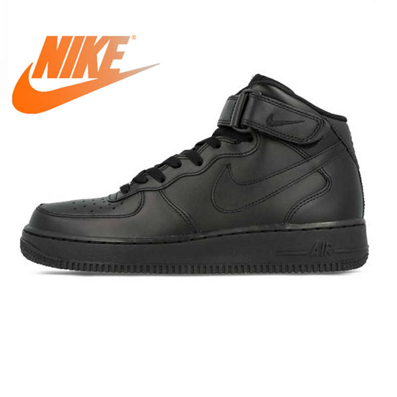 reputable site 04e37 bbe6d Nike Air Force 1 AF1 Original Official Breathable Men's Skateboarding Shoes  Sports Sneakers Classique High Flat