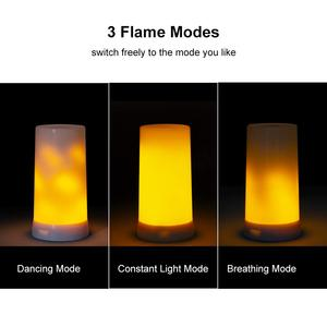 Image 2 - LED Flame Effect Fire Light Bulb Waterproof Outdoor Indoor Flickering Emulation 3 Modes Magnetic Led Flame Lamp USB Rechargeable