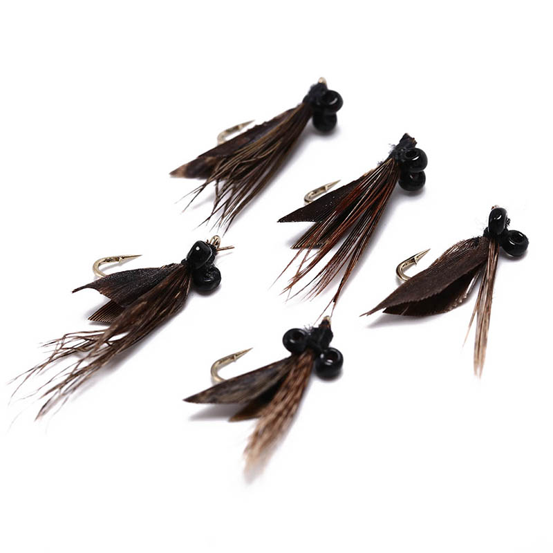 Wholesale Fly Fishing Flies: 5 Pieces Elk Hair Caddis Fly Trout Fishing Dry Flies Fly