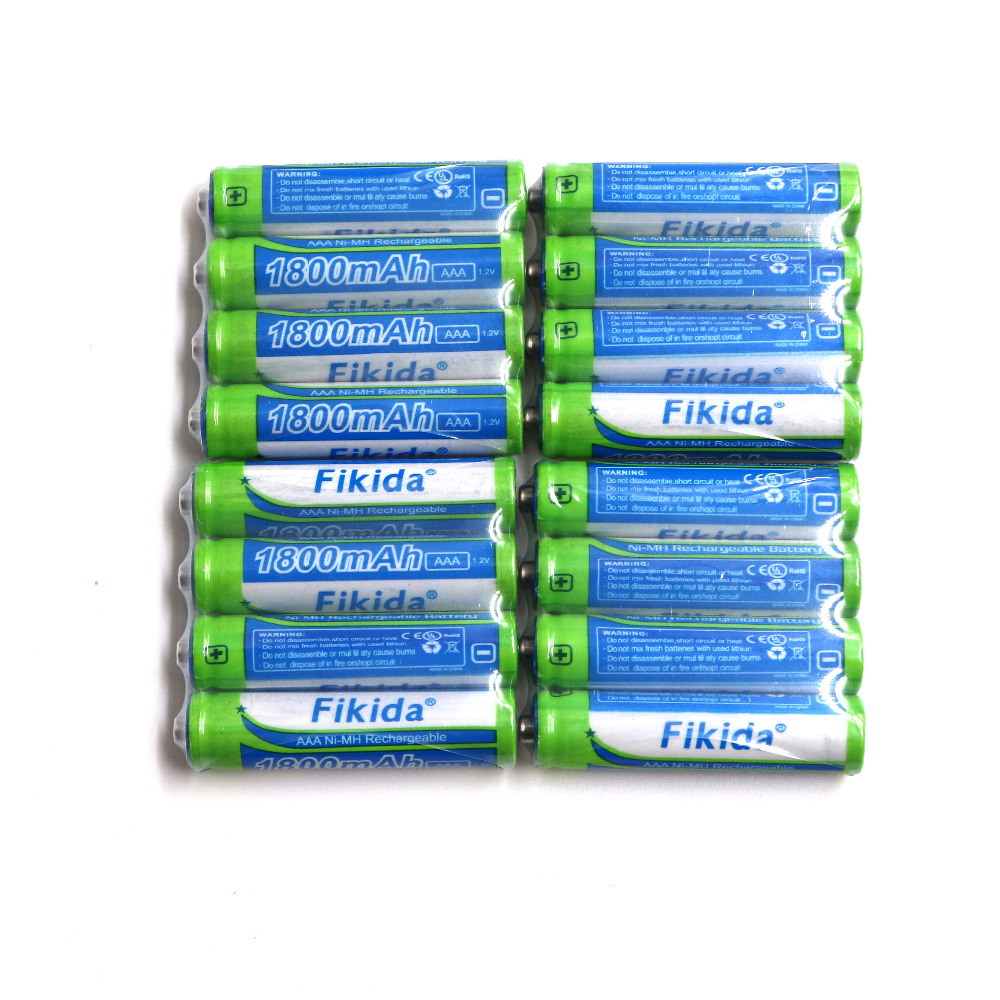 Fikida Original High Capacity Nickel Hydrogen AAA 3A Rechargeable Battery 1.2V 1800mAh Razor Remote Control Battery