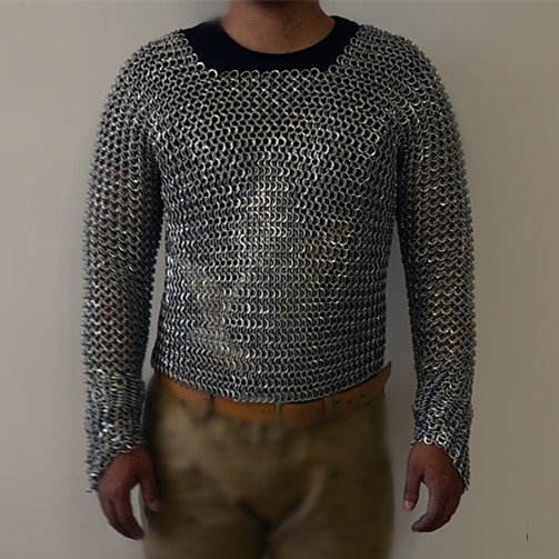 Tee Placed Chainmail Armor Medieval Knight Armor