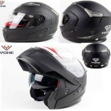 YOHE Moto racing Double Lenss undrape Мотоциклетный шлем мотокросса открытое лицо, мотоциклетные шлемы YH-953 сделаны из ABS