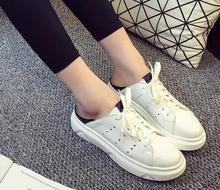Free shipping!!!  new heavy-bottomed girls pupms stylish and comfortable breathable heavy-bottomed flat shoes lacing white shoes