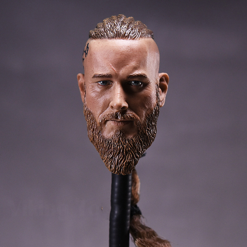1/6 Scale  Head Sculpt Viking Travis Fimmel For Militayr Muscle Body Figures купить