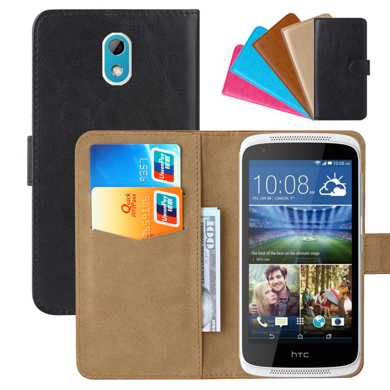 Luxury Wallet Case For HTC Desire 526G/526G+ PU Leather Retro Flip Cover Magnetic Fashion Cases Strap