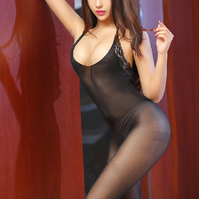 Buy Women hot sexy lingerie costumes fishnet bodystocking Sexy lace Lingerie Bodysuit garters Crotchless Bodysuit Stripper Teddies