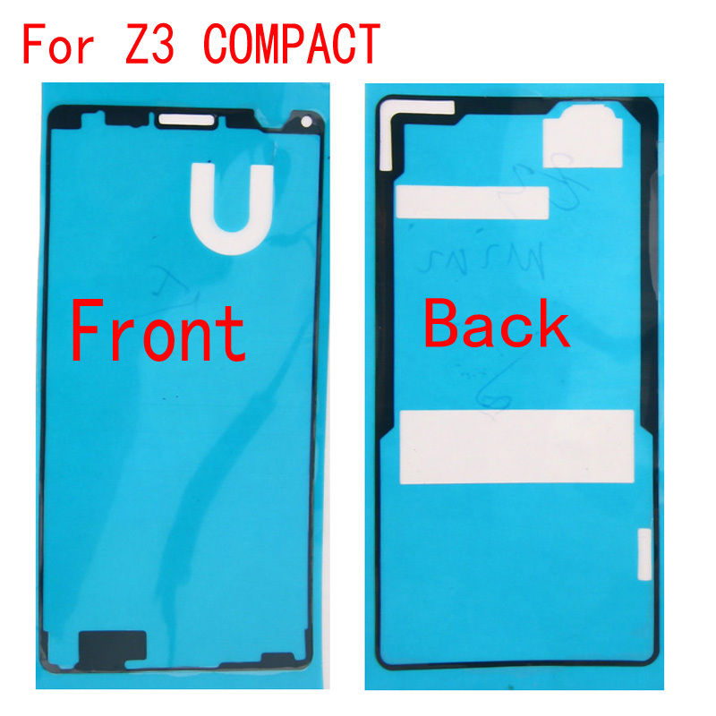 Front+Back Adhesive Glue Tape Sticker For Sony Xperia Z3 Compact Mini D5803 D5833 LCD Housing Frame Back Battery Cover
