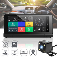 KROAK 7'' Android 5.1 WiFi Dashboard Car DVR Rearview Mirror Dash Cam Driving Recorder GPS Navigation