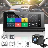 KROAK 7'' Android 5.1 WiFi Dashboard Car DVR Rearview Mirror Dash Cam Driving Recorder GPS Navigation