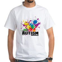Printing On T Shirts O-Neck Autism Paint Splatter Short Sleeve Tall T Shirt For Men