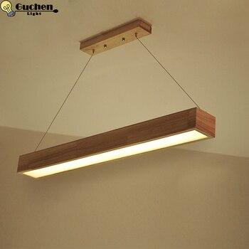 Moderne nordique pendentif bois clair cuisine bureau Restaurant Bar loft lampes luminaire pendientes décoration de la maison lampara LED