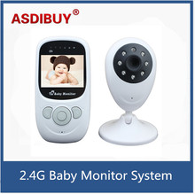 Wireless Video 2.4 inch LCD Display Baby Monitor Security Camera 2 Way Talk Night Vision IR LED Temperature Monitoring