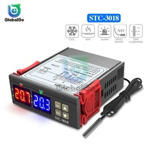цена на STC-3018 Dual Digital Temperature Controller Switch 12V 24V 110V 220V Thermoregulator Thermostat C/F for Incubator Relay