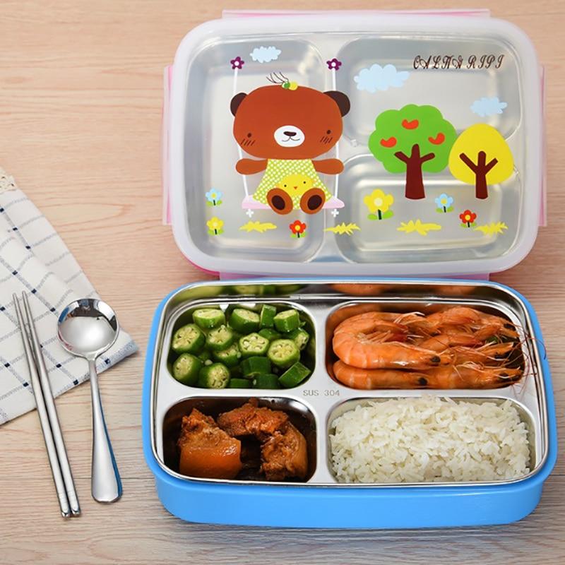 Portable Leak-Proof Lunch Box Eco-FriendlyBento Box For Kids School Picnic GIFT