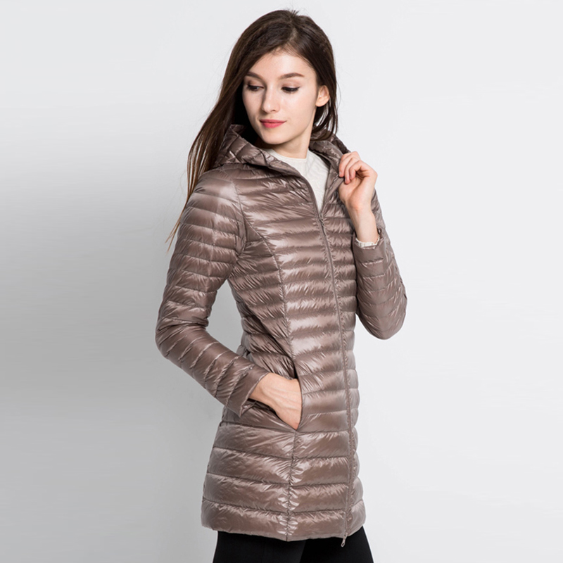 Down     Coat   Female Winter Jacket Women Women's Long Pudder   Coat     Down   Jackets Brand Doudoune Femme Hiver Zipper Office Lady