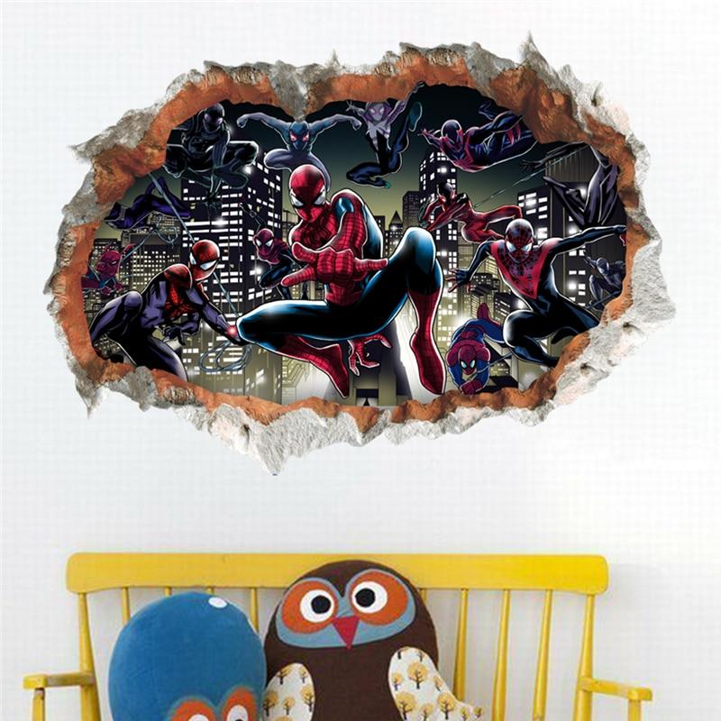 3d Effect Cartoon Spiderman Breaking