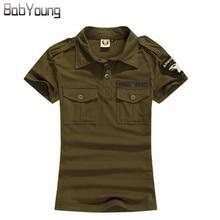 BabYoung, новинка, летнее повседневное поло, женские топы, камуфляж, армейский зеленый цвет, хлопковые рубашки, поло, Femme Polo Mujer, рубашка с коротким рукавом, Черная