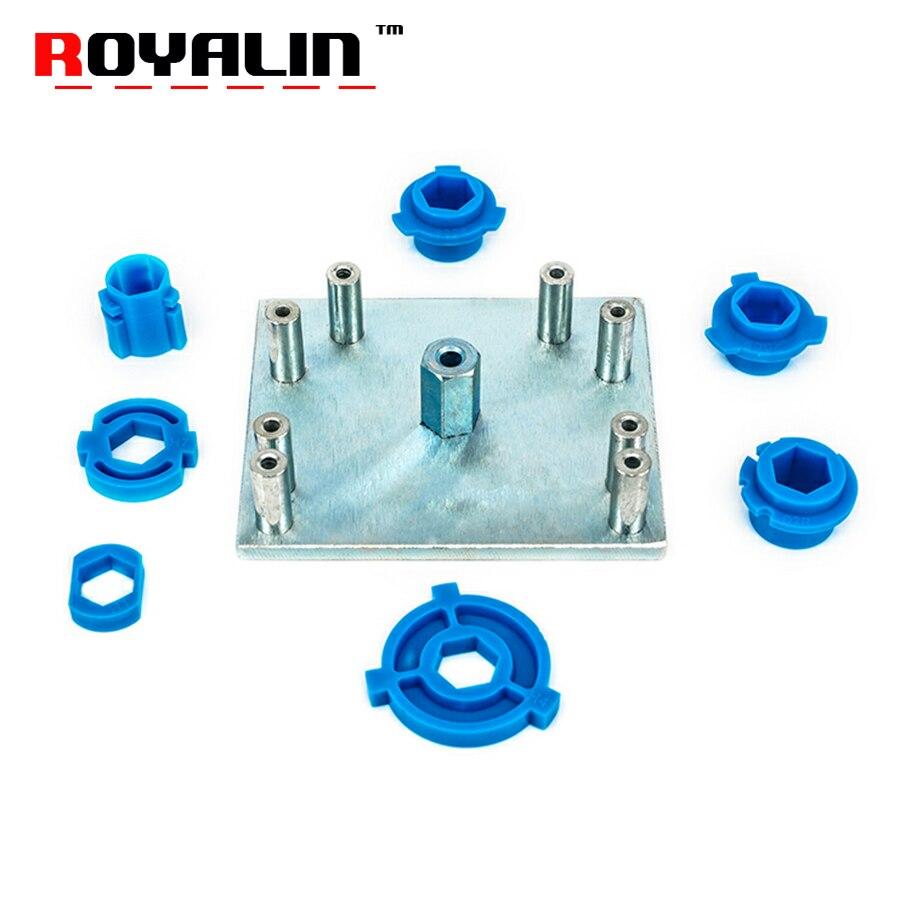 ROYALIN Voiture Style Phare Rénovation Outils H1 H4 H7 H11 D2 HB3 HB4 9005 9006 Moules De Montage Plaque pour Koito Q5 Hella 3/5 Lentille