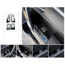 Авто внутренний стеклоподъемник Кнопка отделка для toyota corolla-, нержавеющая сталь, автомобильный Стайлинг