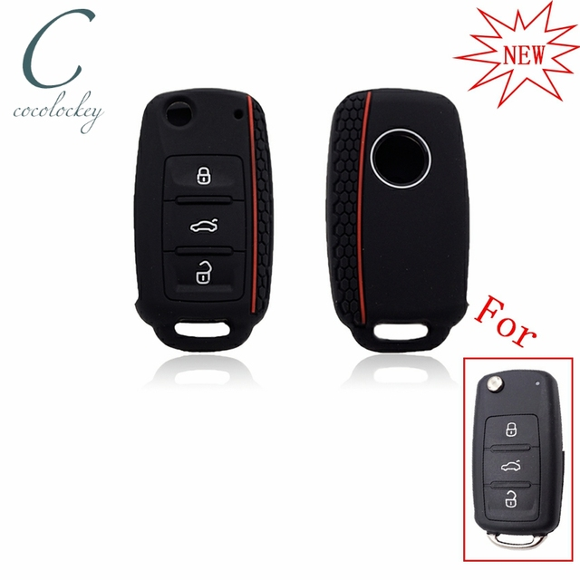 Cocolockey Silicone Car Key Cover Case For Vw Golf For Skoda Yeti