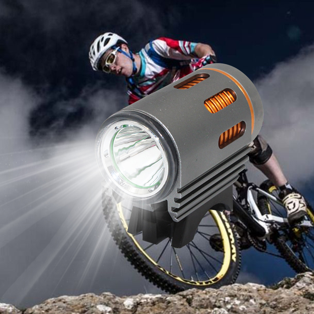 Uranusfire Bicycle Light XM-L2 LED Bike DC Port Front Lamp Head Bicycle 4 Mode Bike Lamp Light Head Light Torch