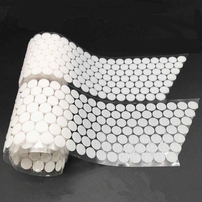 100 пар волшебных наклеек в горошек, двусторонняя прочная самоклеющаяся лента на крючках и петлях, инструменты для шитья одежды с кнопками