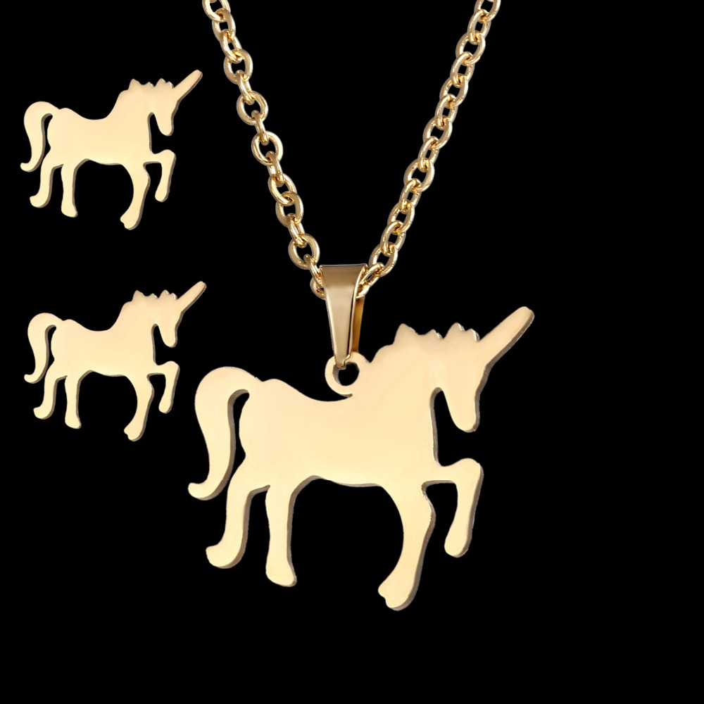 Gold Steel Horse Jewelry...