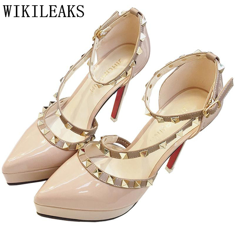 designer platform shoes woman extreme high heels gladiator sandals italian euros rivets red heels shoes high heels sandals women phyanic 2017 gladiator sandals gold silver shoes woman summer platform wedges glitters creepers casual women shoes phy3323