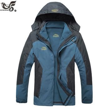 XIYOUNIAO new plus size L~7XL 8XL Winter Jacket Men Warm Coat Thermal Windproof Hood Jackets Mens 2 in 1 Outwear Parka coats set