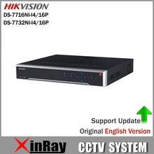 HIKVISION POE NVR DS-7716NI-I4/16 P DS-7732NI-I4/16 P Mit 16CH POE H.265 12MP NVR Unterstützung Alarm und Audio-ausgang