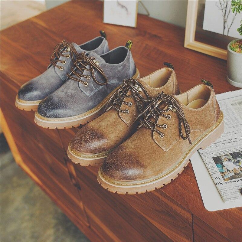 En Tête Black Ronde brown Chaussures De Sac Angleterre Cuir Casual grey Dentelle Haute Hommes Kelly Bottes Faible Y9IW2EDH