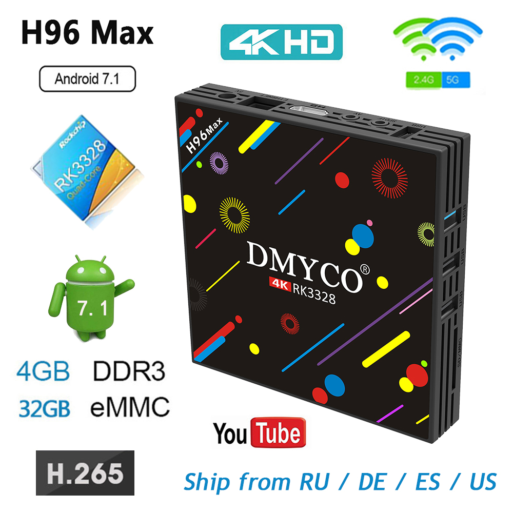 Cheapest H96 MAX H2 Android 7 1 TV box Rockchip RK3328 4GB