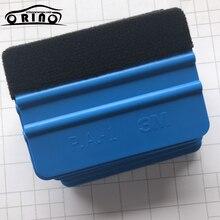 Flexível macio azul feltro rodo de vinil filme envoltório ferramenta tela raspador tingimento ferramentas janela vidro lavagem ferramentas limpeza do carro automático