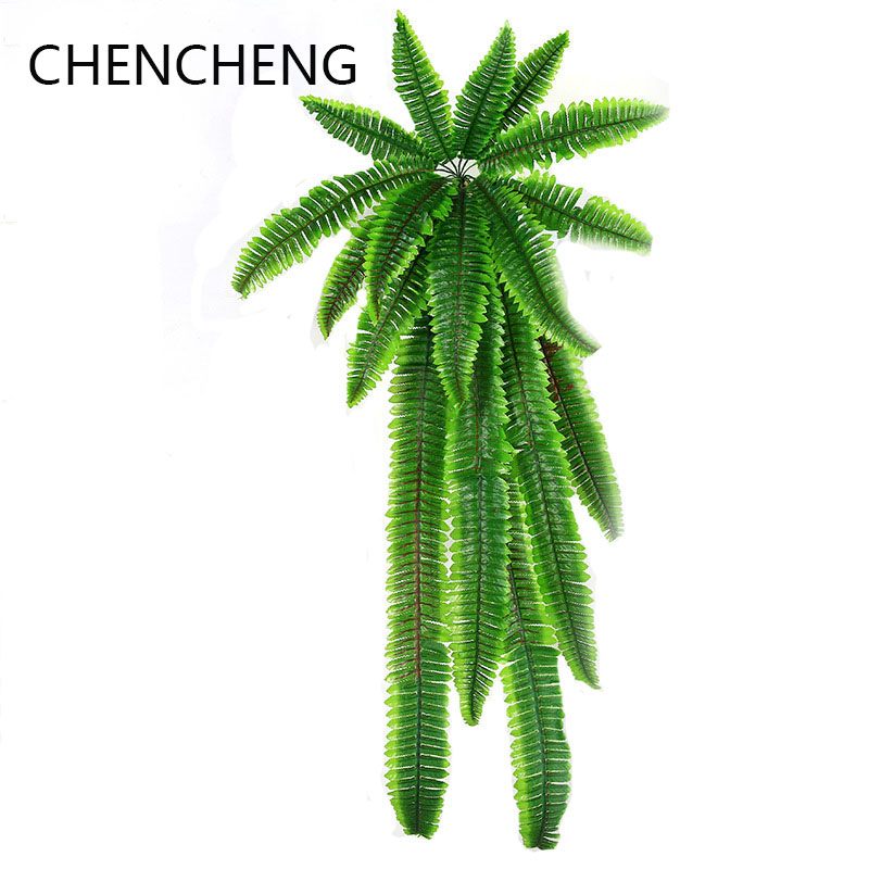 CHENCHENG 110 Cm Simulation Persian Leaf Wall Hanging  Artificial Plant Lawn Leaves Encrypted Green Planted Fake Persian Fern