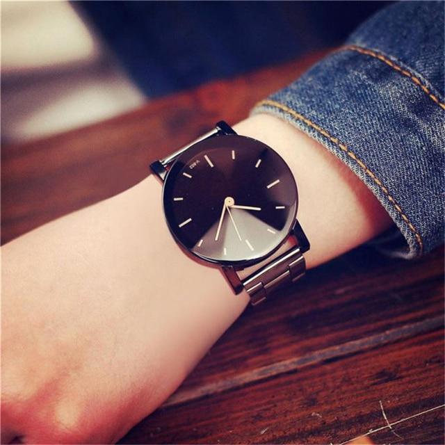 Fashion Women Fashion Stainless Steel Band Quartz Analog Wrist Watch relojes hom