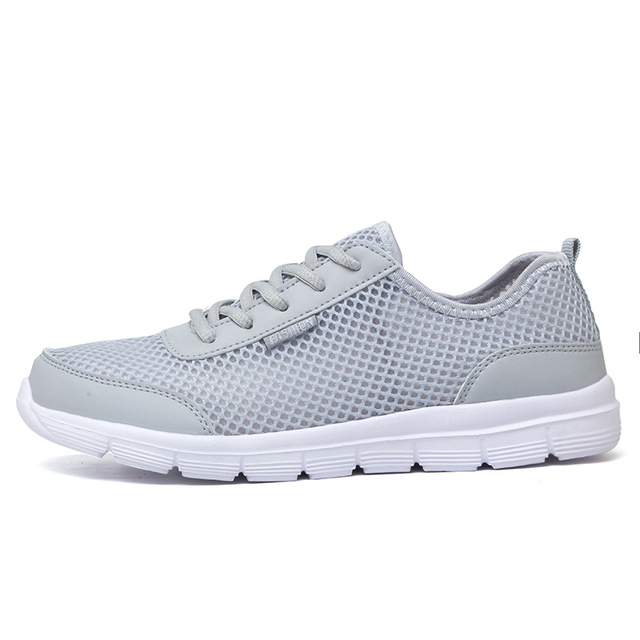 Men Summer Fashion Breathable Men Casual Shoes Lace Up High Quality Flat Mesh Shoes Plus Size 35-48