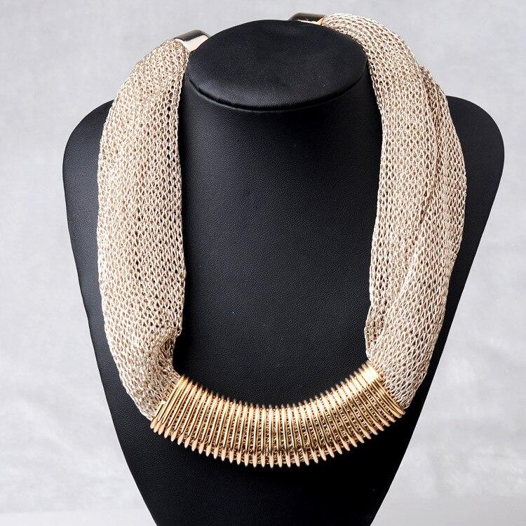 Collar de la declaración mujeres de la moda 2015 collar de la vendimia gran cadena chunky