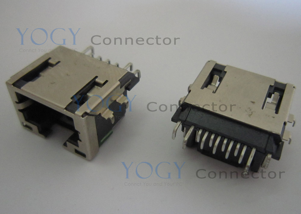 1pcs Laptop motherboard common use network socket fit for lenovo y460 y470 y470a y470p y471 y471a series <font><b>rj45</b></font> female <font><b>jack</b></font> image